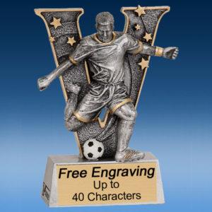 """Soccer Male """"V"""" Series Resin Award-0"""