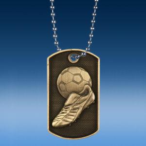 Soccer 3D Dogtag Medal-0