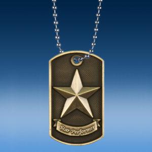 Star Performer 3D Dogtag Medal-0