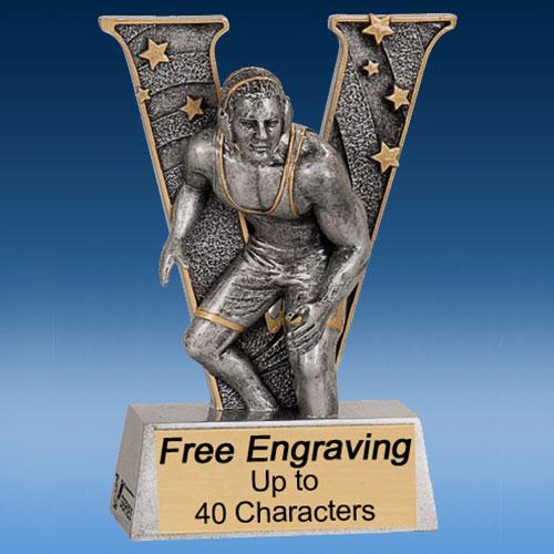 """Wrestling """"V"""" Series Resin Award-0"""