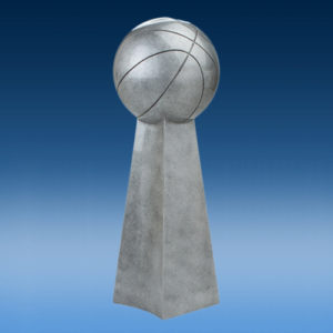 Basketball Championship Silver Tower Resin