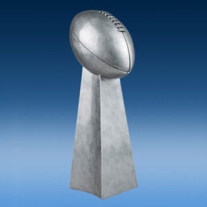 Football Championship Silver Tower Resin