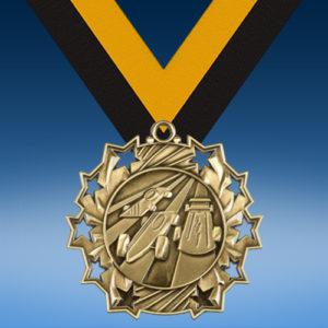 Pinewood Derby Ten Star 3D Medal-0