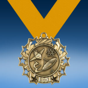 Science Ten Star 3D Medal-0