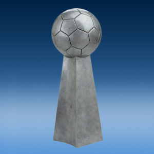 Soccer Championship Silver Tower Resin