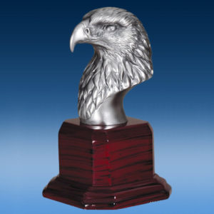 American Silver Plate Eagle Head