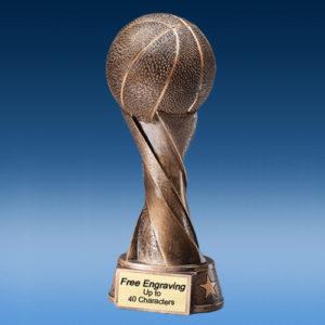 Bronze Basketball Spiral Resin