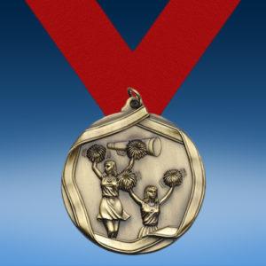 Cheerleading Die Cast Medal-0