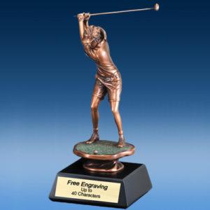 Golf Driver Female Sculpture
