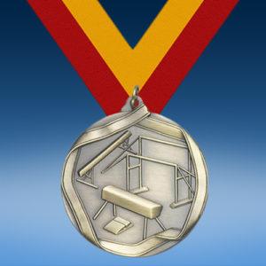 Gymnastics Female Die Cast Medal-0