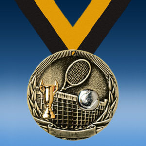 Tennis Country Two-Toned Series Medals-0