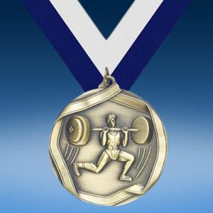 Bodybuilding Die Cast Medal-0