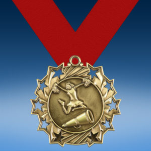 Cheerleading Ten Star 3D Medal-0