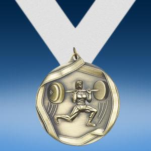 Female Bodybuilding Die Cast Medal-0