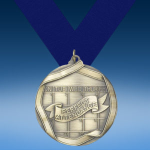 Perfect Attendance Die Cast Medal