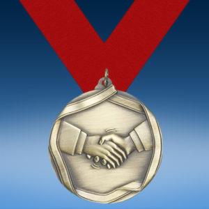 Teamwork Die Cast Medal-0