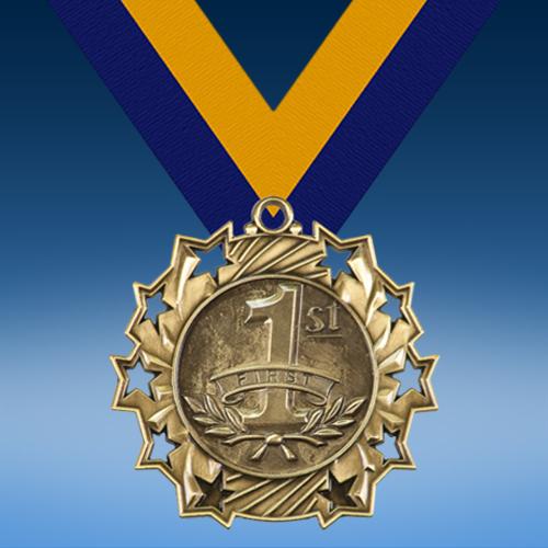 1st Place Ten Star 3D Medal-0