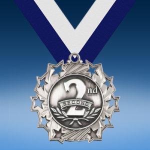 2nd Place Ten Star 3D Medal-0