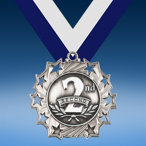 2nd Place Ten Star 3D Medal-0
