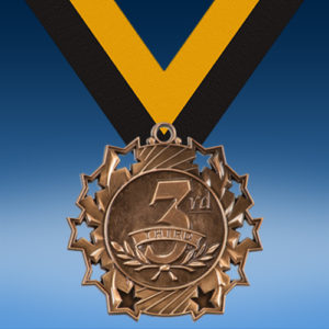 3rd Place Ten Star 3D Medal-0
