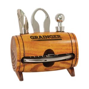 Laserable Barrel 4 Piece Wine Set