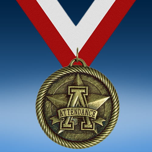 Attendance Academic Wrapped Medal-0