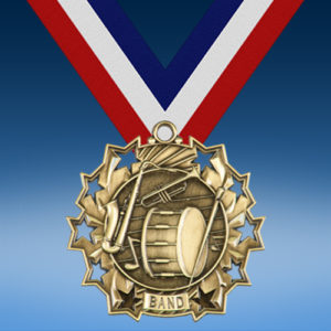 Band Ten Star 3D Medal-0