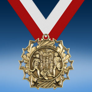 Cross Country Ten Star 3D Medal-0
