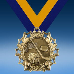 Hockey Ten Star 3D Medal-0