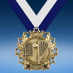 Lacrosse Ten Star 3D Medal-0