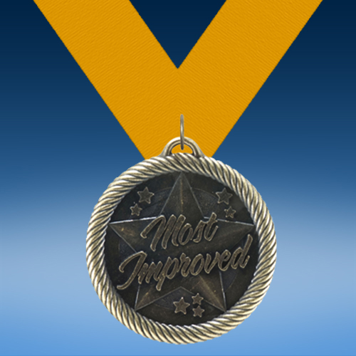 Most Improved Academic Wrapped Medal-0