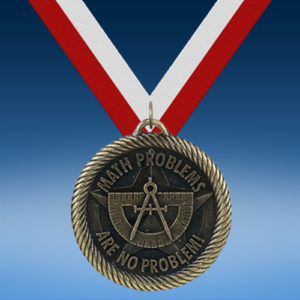 No Problems Math Academic Wrapped Medal-0