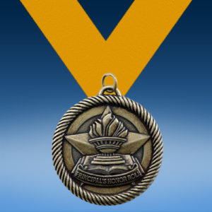 Principle's Honor Roll Academic Wrapped Medal-0