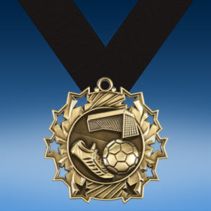 Soccer Ten Star 3D Medal-0