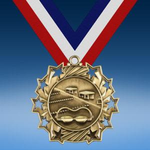 Swimming Ten Star 3D Medal-0