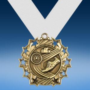 Track Ten Star 3D Medal-0