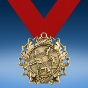 Track and Field Ten Star 3D Medal-0