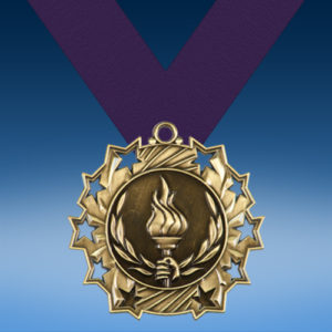 Victory Ten Star 3D Medal-0