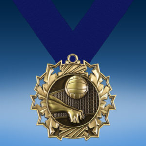 Volleyball Ten Star 3D Medal-0