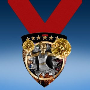 Cheerleading Full Color Burst Medallions