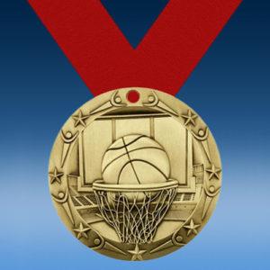 Basketball World Class Medallion-0