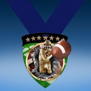 Football Full Color Burst Medallions