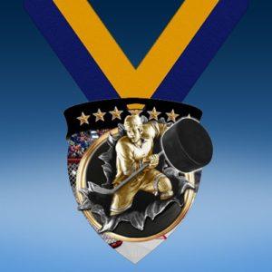 Hockey Full Color Burst Medallions