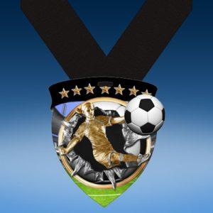 Soccer Female Full Color Burst Medallions