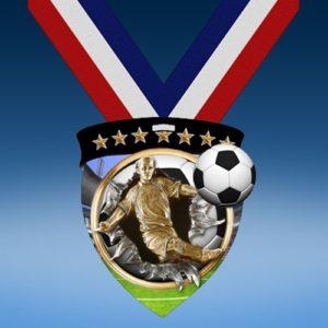 Soccer Male Full Color Burst Medallions