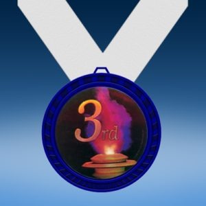 3rd Place Blue Colored Insert Medal