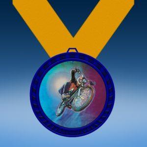 BMX Blue Colored Insert Medal