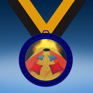 Cornhole Blue Colored Insert Medal