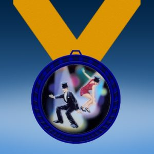 Dance 1 Blue Colored Insert Medal
