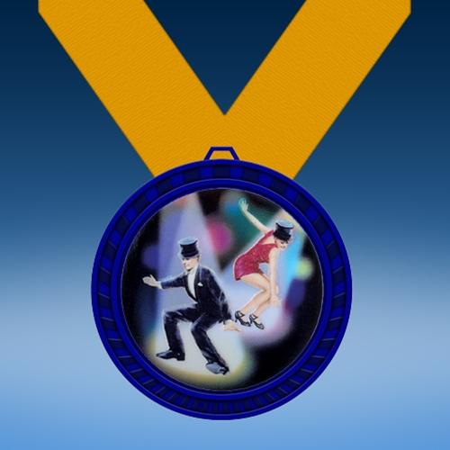 Dance 1 Blue Colored Insert Medal